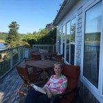 Enjoying relaxing on the deck!