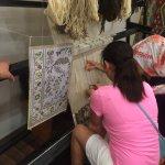 Silk weaving demo