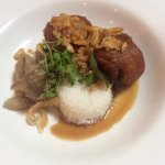 Braised pork hock ~ peanuts, eggplant, coconut rice