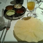 Papadum and chutney