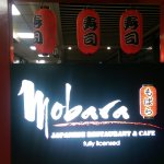 Mobara sign at restaurant entrance