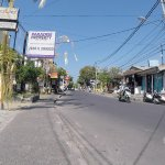 The main street for the hotel, about 200 meters from the hotel