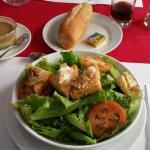 Salade au chèvre chaud 7.000 fr