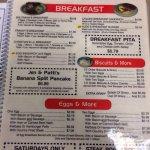 Koffee Kup menu