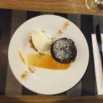 Chocolate Lava Cake with Dulce de Leche @ Brio Wine and Dine
