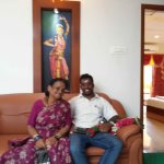 Relaxing with Mom after the Visit to Ramsuratkumar Ashram and Shiva Temple