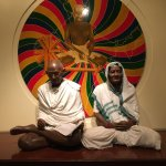 Gandhiji and his wife...this pic has so much life ! so charismatic, so real !