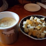 Our fave...warm cheese fondue