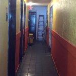Hallway to restroom