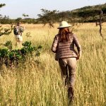 Fly Camp safari bound- on our walk to the campsite with an incredible guide.