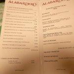 Taberna del Abardero Cafeteria Carte