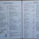 Die Seekiste - St Peter Ording - Speise- und Getränkekarte