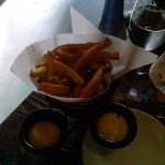 Frites with three dipping sauces, very good
