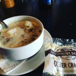 Yum clam chowder and Mac n Cheese