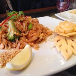 Pad Thai - loved the decoration on the plate!