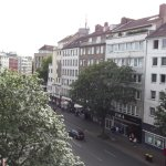 View from room of Graf Adolf Straße looking towards the Hauptbahnhof.