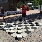 Playing checkers in Winter Park Village
