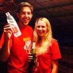 Beer pong winner!!