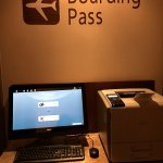 the boarding pass kiosk