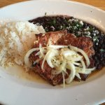 Half Chicken with beans & rice with a touch of Cuban flavoring at J Nichols. Delicious.