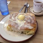 Cinnamon Roll. This was big enough to share and really delicious!