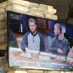 The look the guy on the T.V. is giving his opponent describes what I felt too watching poker