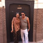 My friend with the hotel manager Adil outside the riad