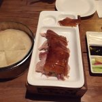 Half-roast duck, additional pancakes can be ordered