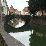 Photo of canal in front of Hotel Europ, Bruges