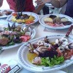 Beautiful fresh seafood platters