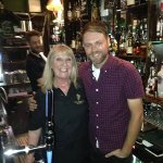 The lovely Brian McFadden on a visit to jintys :-)