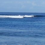 Guests surfing off Eratap