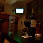 Hotel bar during the football match