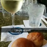 Sweet wine with a corn muffin is LIFE!!