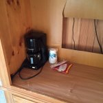 Coffee Maker in TV Cabinet