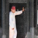 In the doorway. Jemaa el Fnaa