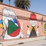 Mural, outside the Casbah