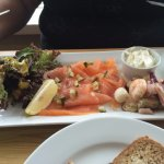 Seafood platter at 'The Old Ram'