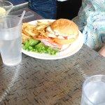 Roma chicken sandwich on gluten free bun