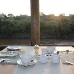 Breakfast on the river enjoying the hippos