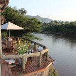 Lovely relaxing deck overlooking the river