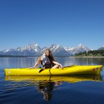 Our daughter at Jackson Lake during our Big Trip Out West!