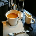 Ahhhh, great way to start the day, coffee at Grand Met!