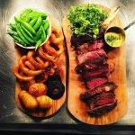 1KG Tomahawk steak to share.