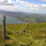 Nearby Slieve Martin overlooking Carlingford Lough