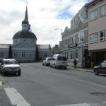 Sitka main street with St. Michael's Russian Orthodox Cathedral