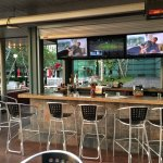 Completely comfortable watching the Indians game at the outside bar.