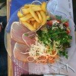 Salat und Jambon
