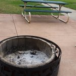 Here's your firepit...worth $20 resort fee per night?