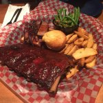 Baby ribs and beef brisket